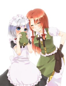 Rating: Safe Score: 8 Tags: hong_meiling izayoi_sakuya maid touhou usacan User: Radioactive