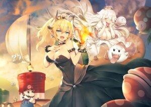Rating: Safe Score: 38 Tags: bowsette cleavage dress horns khanshin new_super_mario_bros._u_deluxe pointy_ears princess_king_boo User: Mr_GT
