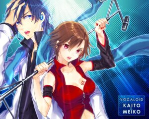 Rating: Safe Score: 15 Tags: cleavage headphones kaito meiko renta vocaloid wallpaper User: charunetra