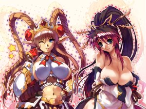Rating: Questionable Score: 61 Tags: breast_hold cleavage dress elf erect_nipples hisahiko nanbu_kaguya neige_hausen pointy_ears super_robot_wars super_robot_wars_og super_robot_wars_og_saga_:_mugen_no_frontier wallpaper User: Lord_Satorious