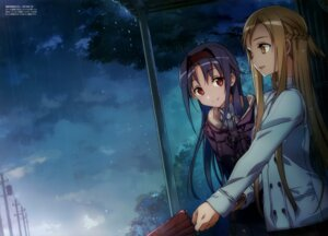 Rating: Safe Score: 68 Tags: abec alfheim_online asuna_(sword_art_online) konno_yuuki sword_art_online umbrella User: AltY