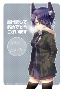Rating: Safe Score: 17 Tags: eyepatch kantai_collection kotobuki_(momoko_factory) seifuku signed tenryuu_(kancolle) thighhighs User: charunetra