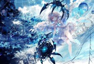 Rating: Safe Score: 35 Tags: dress heterochromia mecha onineko see_through wet wings User: BattlequeenYume