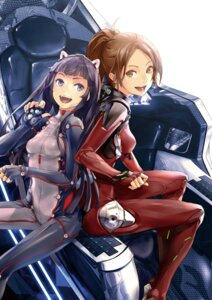Rating: Safe Score: 100 Tags: bodysuit guilty_crown redjuice shinomiya_ayase tsugumi_(guilty_crown) User: WhiteExecutor
