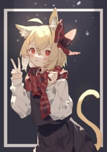 Rating: Safe Score: 16 Tags: animal_ears nekomimi rumia sh tail touhou User: Mr_GT