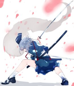 Rating: Safe Score: 23 Tags: ikurauni konpaku_youmu sword touhou User: charunetra