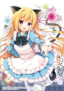 Rating: Safe Score: 91 Tags: alice alice_in_wonderland animal_ears dress heels hisama_kumako moco_chouchou nekomimi pantyhose tail User: Twinsenzw