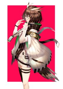 Rating: Safe Score: 24 Tags: arknights garter lumo_1121 megane silent_(arknights) sweater tail thighhighs weapon User: Dreista