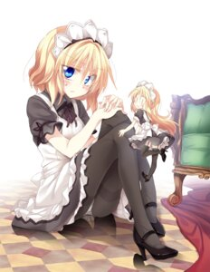 Rating: Safe Score: 53 Tags: alice_margatroid cameltoe heels maid pantsu pantyhose satoukibi shanghai stockings thighhighs touhou User: Mr_GT