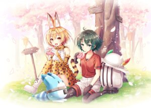 Rating: Safe Score: 16 Tags: akashio animal_ears kaban_(kemono_friends) kemono_friends pantyhose serval tail thighhighs User: Mr_GT