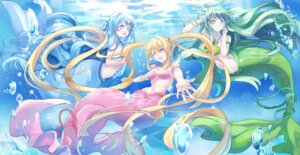 Rating: Safe Score: 20 Tags: bikini_top ein_(artist) houshou_hanon mermaid mermaid_melody_pichi_pichi_pitch monster_girl nanami_luchia tail toin_rina User: Mr_GT