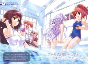 Rating: Safe Score: 8 Tags: aoi_nagisa byakudan_kagome hanazono_shizuma hyuuga_kizuna nanto_yaya strawberry_panic swimsuits takumi_namuchi User: Radioactive