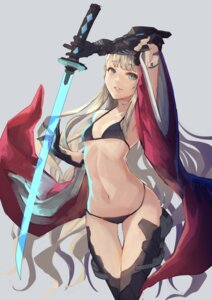 Rating: Safe Score: 57 Tags: bikini swimsuits sword tamarashi thighhighs User: Mr_GT