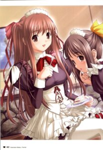 Rating: Questionable Score: 10 Tags: kazami_yui maid nekonyan parfait_chocolate_second_brew yukino_asuka User: fireattack