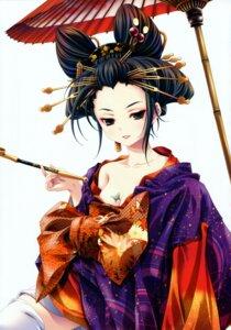 Rating: Safe Score: 38 Tags: cleavage kimono miyama-zero User: midzki