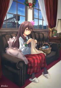 Rating: Safe Score: 20 Tags: chamu_(chammkue) christmas kantai_collection kisaragi_(kancolle) seifuku User: Mr_GT