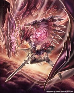 Rating: Safe Score: 68 Tags: anbe_yoshirou dark_ultima deity_wars horns monster sword wings User: blooregardo