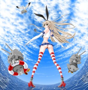 Rating: Questionable Score: 17 Tags: ass cameltoe heels kantai_collection rensouhou-chan shimakaze_(kancolle) tagme thighhighs thong User: Radioactive