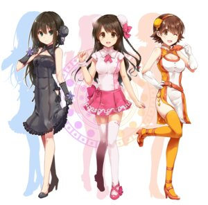 Rating: Safe Score: 22 Tags: cleavage dress heels honda_mio paopao shibuya_rin shimamura_uzuki the_idolm@ster the_idolm@ster_cinderella_girls thighhighs User: Mr_GT
