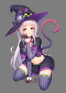 Rating: Questionable Score: 26 Tags: animal_ears catxuan hololive murasaki_shion nekomimi tail thighhighs transparent_png witch User: sym455
