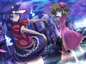 Rating: Safe Score: 9 Tags: animal_ears kasodani_kyouko marionette_(excle) miyako_yoshika touhou wallpaper User: SciFi