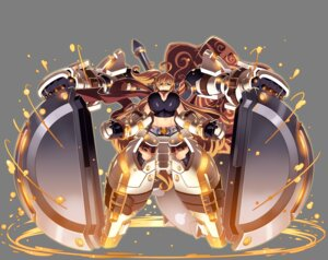 Rating: Questionable Score: 15 Tags: armor cleavage mecha sennen_sensou_aigis tagme thighhighs transparent_png weapon User: Radioactive