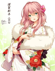 Rating: Safe Score: 72 Tags: autographed flower_knight_girl kimono monety User: fairyren