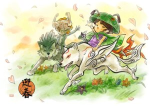 Rating: Safe Score: 7 Tags: amaterasu crossover issun link midna ookami pointy_ears the_legend_of_zelda the_legend_of_zelda:_twilight_princess User: DragonSushi