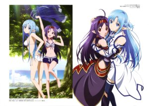 Rating: Questionable Score: 57 Tags: ass asuna_(sword_art_online) bikini cleavage feet konno_yuuki nakamura_naoto pointy_ears swimsuits sword_art_online tanabe_kenji thighhighs User: drop
