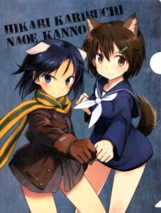 Rating: Questionable Score: 30 Tags: animal_ears brave_witches kanno_naoe karibuchi_hikari pantsu seifuku shimada_humikane tail User: drop