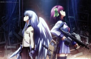 Rating: Safe Score: 42 Tags: angel_beats! fixed gun hirata_katsuzou overfiltered seifuku tenshi thighhighs wings yurippe User: Aurelia