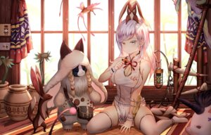 Rating: Questionable Score: 29 Tags: aaeru chinadress heterochromia monster_hunter no_bra see_through tagme thighhighs User: Mr_GT