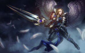 Rating: Questionable Score: 3 Tags: armor league_of_legends sword tagme wings User: Radioactive
