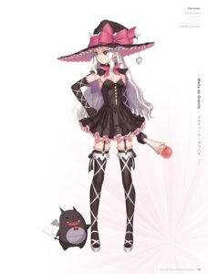 Rating: Questionable Score: 47 Tags: cleavage digital_version dress melty_de_granite no_bra pointy_ears shining_hearts shining_world stockings thighhighs tony_taka weapon witch User: Twinsenzw