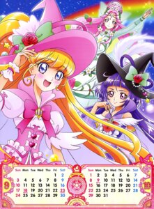 Rating: Safe Score: 8 Tags: asahina_mirai calendar dress haa-chan_(precure) izayoi_riko mahou_girls_precure! pretty_cure see_through witch User: drop