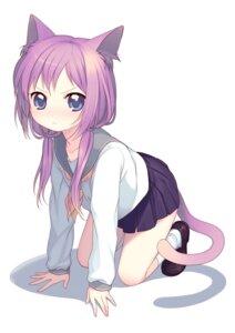 Rating: Safe Score: 54 Tags: animal_ears kimura_daisuke namori nekomimi seifuku tail User: CC