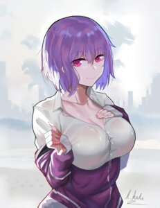 Rating: Safe Score: 19 Tags: breast_hold dress_shirt l.kili see_through shinjou_akane ssss.gridman wet wet_clothes User: mash