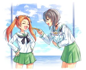 Rating: Safe Score: 8 Tags: girls_und_panzer kadotani_anzu kawashima_momo megane seifuku tagme User: saemonnokami
