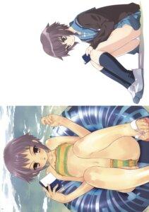 Rating: Safe Score: 19 Tags: bikini hapoi-dokoro nagato_yuki okazaki_takeshi pantsu seifuku suzumiya_haruhi_no_yuuutsu swimsuits User: Radioactive
