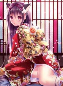 Rating: Safe Score: 63 Tags: animal_ears inagaki_miiko kimono nekomimi tagme User: kiyoe