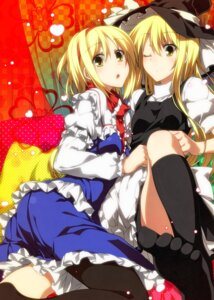 Rating: Safe Score: 55 Tags: alice_margatroid kirisame_marisa pantyhose sazanami_mio touhou User: fairyren