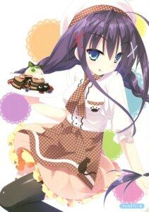 Rating: Safe Score: 45 Tags: floral_flowlove kannagi_rei saga_planets thighhighs tokisaka_nanao waitress User: Twinsenzw