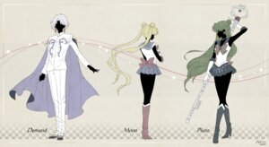 Rating: Safe Score: 6 Tags: heels meiou_setsuna prince_diamond sailor_moon saki_(hxaxcxk) seifuku sketch tsukino_usagi weapon User: charunetra