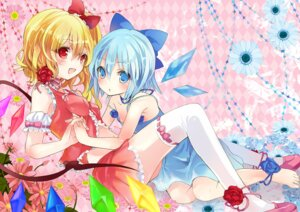 Rating: Safe Score: 41 Tags: cirno flandre_scarlet musou_yuchi thighhighs touhou User: Mr_GT