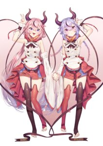 Rating: Safe Score: 20 Tags: horns meika_hime meika_mikoto oohhya thighhighs vocaloid User: Mr_GT