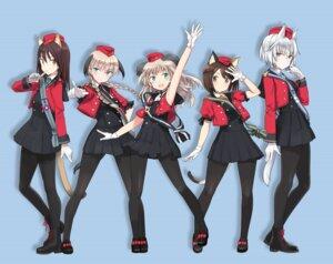 Rating: Safe Score: 19 Tags: animal_ears luminous_witches pantyhose shimada_humikane tail uniform User: saemonnokami