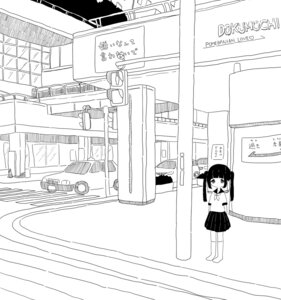 Rating: Safe Score: 12 Tags: dokumochi landscape monochrome seifuku User: Debbie