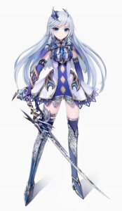 Rating: Safe Score: 66 Tags: dress heels hisahisahisahisa sword thighhighs User: KazukiNanako