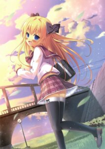 Rating: Safe Score: 55 Tags: pikazo seifuku thighhighs User: Twinsenzw