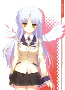 Rating: Safe Score: 45 Tags: angel_beats! dmyo seifuku snow_ring tenshi wings User: fireattack
